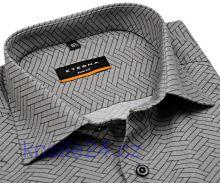 Eterna Slim Fit – dizajnová košeľa s čierno-sivým vzorom