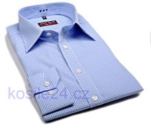 Marvelis Body Fit Uni – bílá košile se světle modrým minikárem