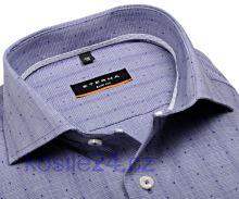 Eterna Slim Fit Stretch – modrá košeľa s votkaným vzorom