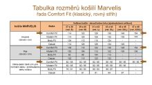 Marvelis Comfort Fit – černo-modrá košile s vetkanou bílou kostkou