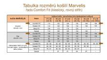 Marvelis Comfort Fit – tmavomodrá košile s vetkaným bílým vzorem - krátký rukáv