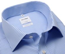 Olymp Comfort Fit Twill – košile se světle modrým proužkem