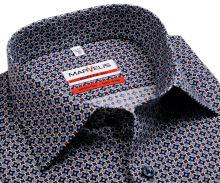Marvelis Modern Fit - dizajnová košeľa s vzorom v trikolóre